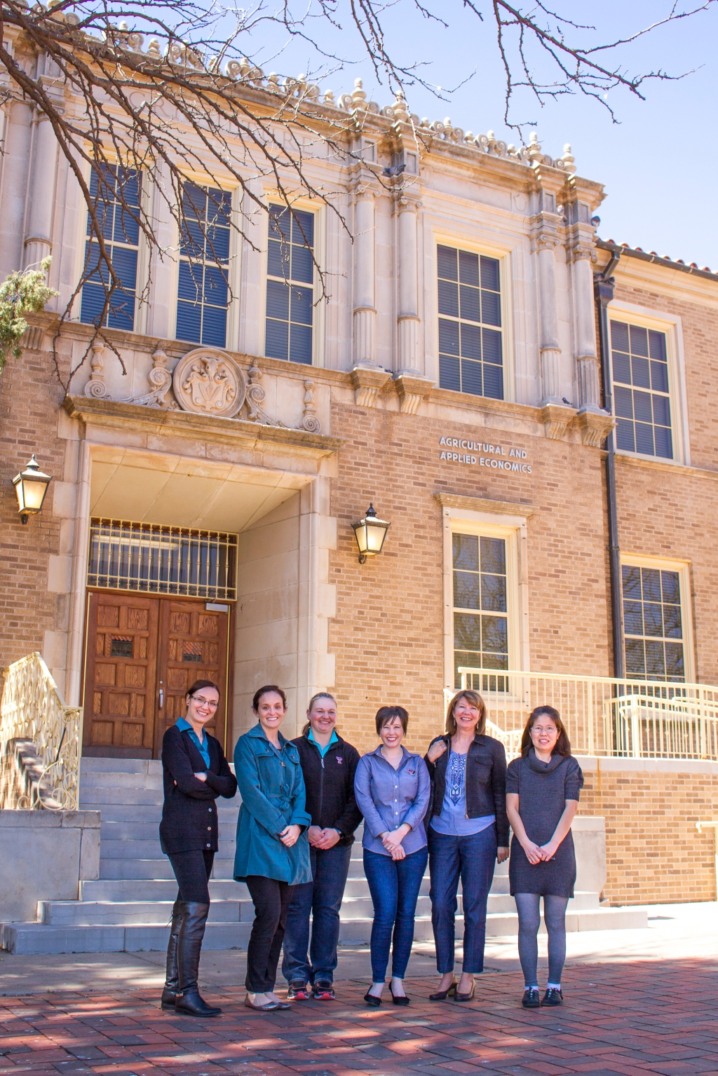 There are six women out of the 22 faculty members in the department. From left to right: Sanja Zivkovic, Ph.D., Jamie Bologna, Ph.D., Kelly Lange, Ph.D., Donna Mitchell, Ph.D., Olga Murova, Ph.D. Tullaya Boonsaeng, Ph.D.