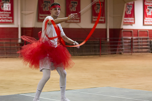 Rivas does rip and twirl to music from the Greatest Showman. Photo Courtesy of Daily Toreador.
