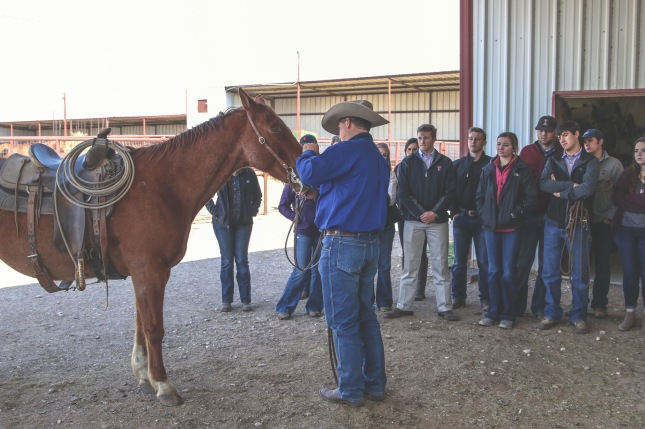 Students toured the RA Brown Ranch in Throckmorton, TX and learned about the livestock operation.