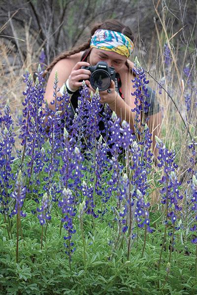 Codi photographing bluebonnets
